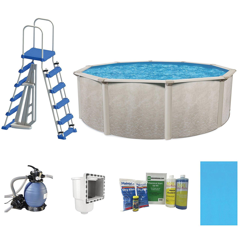 Cornelius Pools Phoenix 24′ x 52″ Frame Above Ground Pool Kit with ...