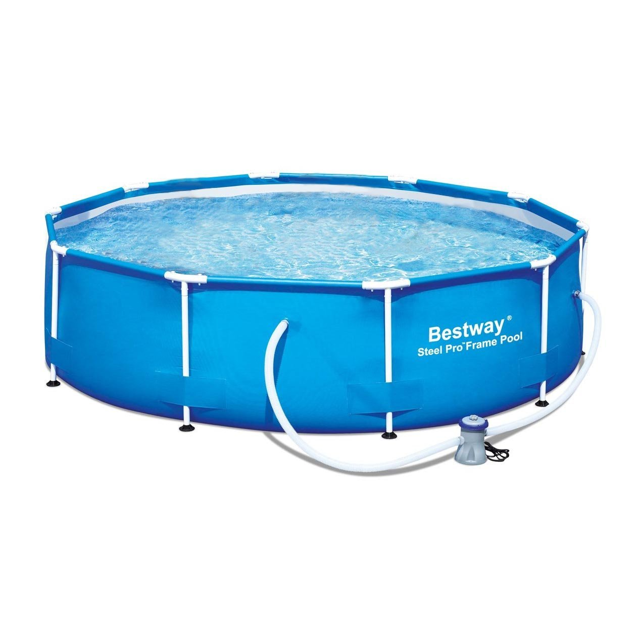 Bestway 12′ x 36″ Steel Pro Frame Above Ground Family Swimming Pool ...