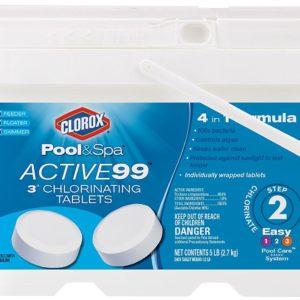 """Clorox Pool&Spa Active99 3"""" Chlorinating Tablets"""