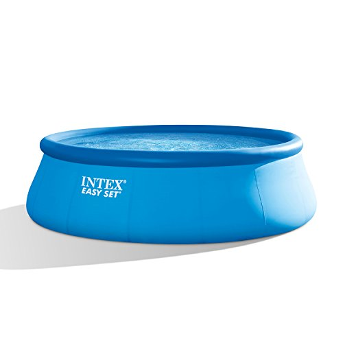 Intex 15ft X 48in Easy Set Pool Set with Filter Pump  Ladder  Ground Cloth & Pool Cover