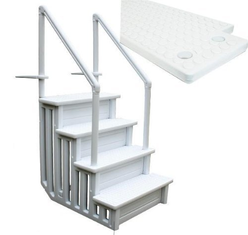 32 Inch Safety Step Above Ground Swimming Pool Ladder W Handle Slip Prevent