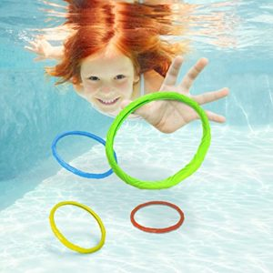 Aqua Dive Rings Pool Toy  6 Ring Game Set   Dive   Retrieve  Ages 5 and Up