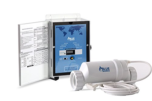 Blueworks Pool Chlorine Generator Chlorinator BLH30   For 25k Gallon Pool   With Flow Switch and White Salt Cell   5 Year Limited Warranty