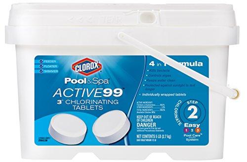 CLOROX Pool Spa 22005CLXW Active99 3  Chlorinating Tablets