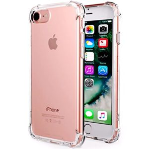 CaseHQ iPhone 7 Case  iPhone 8 Case Crystal Clear Shock Absorption Bumper Slim Fit Heavy Duty Protection TPU Cover Case for Apple iPhone 7(4 7 inch)(2016) iPhone 8(4 7 inch)(2017) -Clear