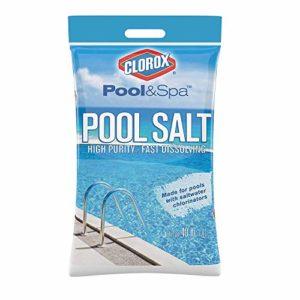 Clorox Pool Spa Salt High Purity Fast Dissolving Saltwater Chlorinator  40 lb (18 1 kg)