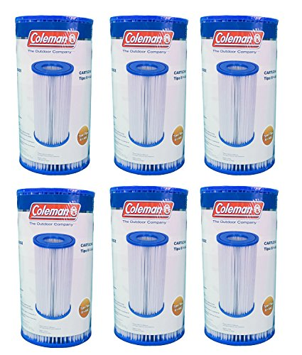 Coleman Type III A C Pool Filter Pump Replacement Cartridge  6-Pack   90307