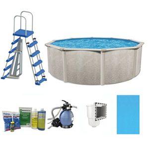 Cornelius Pools Phoenix 24' x 52  Frame Above Ground Pool Kit with Pump   Ladder
