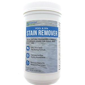 Essential Values Swimming Pool   Spa Stain Remover (2 LBS) - Natural   Safe  Works Best For Vinyl Liners  Fiberglass  Metals – Removes Rust   Other Tough Stains Without The Use Of Harsh Chemicals