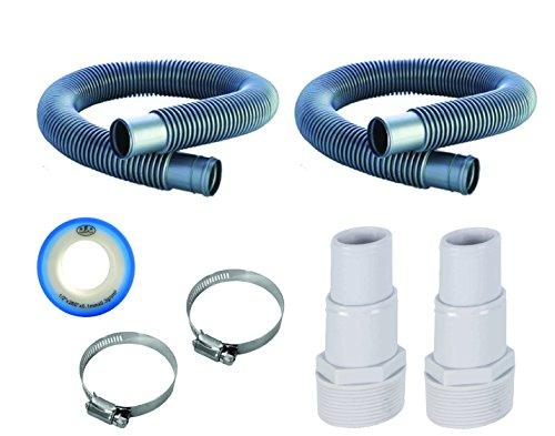 Fibropool 1 1 2  Swimming Pool Filter Hose Replacement Kit (3 Foot   6 Foot)
