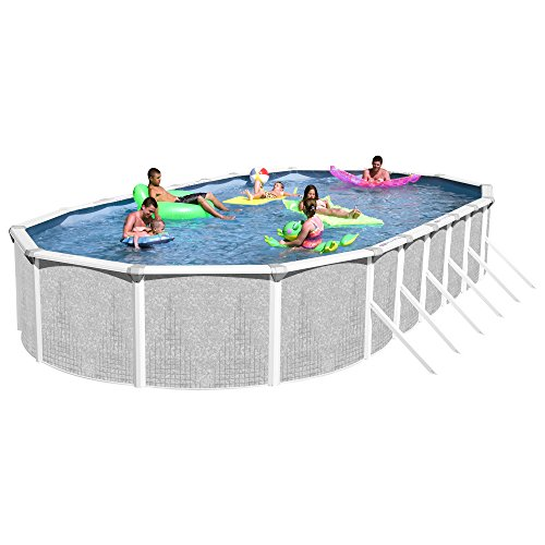 Heritage TA 301552GP-DXP Taos Complete Above Ground Pool  30-Feet x 15-Feet x 52-Inch