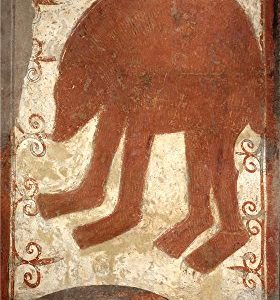 High Quality Polyster Canvas  the Vivid Art Decorative Prints On Canvas Of Oil Painting 'Anonymous 12 Century Bear '  12 X 21 Inch   30 X 54 Cm Is Best For Bar Artwork And Home Gallery Art And Gifts