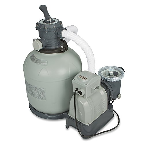Intex Krystal Clear Sand Filter Pump for Above Ground Pools  16-inch  110-120V with GFCI