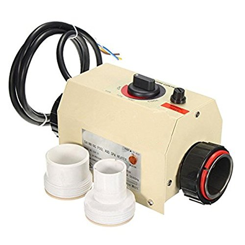 NEWTRY 3KW 220V Electric Water Heater Pump Thermostat For Sauna Swimming Pool Bath SPA Hot Tub 40℃(104℉) Only Fits for small Swimming Pool