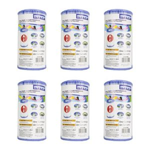 (Pack of 6) Intex 29000E 59900E Easy Set Pool Replacement Type A or C Filter Cartridge
