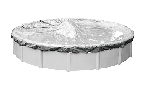 Robelle 5518-4-ROB Dura-Guard Winter Round Above-Ground Cover  18-ft  Pool  03-Dura-Guard Silver