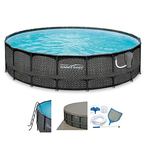 SUMMER WAVES Elite 20' x 48  Above Ground Frame Pool Set