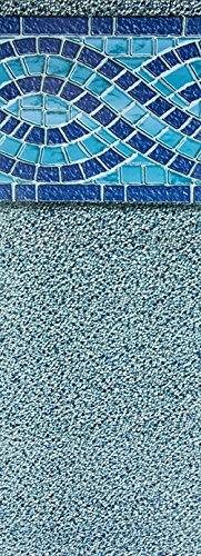 Smartline Aspen Creek 27-Foot Round Liner   UniBead Style   52-Inch Wall Height   25 Gauge Virgin Vinyl   Designed for Steel Sided Above-Ground Swimming Pools