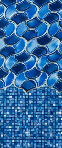 Smartline Waves of Poseidon 24-Foot Round Liner   Overlap Style   48-to-52-Inch Wall Height   25 Gauge Virgin Vinyl   Designed for Steel Sided Above-Ground Swimming Pools