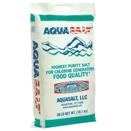 AQUASALT Swimming Pool and Spa Chlorine Generator Salt - 40 Pounds