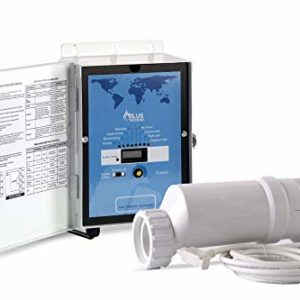 BLUE WORKS Pool Chlorine Generator Chlorinator BLH20   for 15k Gallon Pool   with Flow Switch and Salt Cell   5 Year Limited Warranty (White)