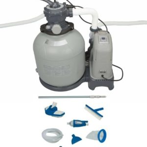 INTEX 2650 GPH Sand Filter Pump   Saltwater System Set w  Deluxe Maintenance Kit