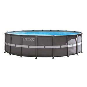 Intex 18ft X 52in Ultra Frame Pool Set with Filter Pump   Saltwater System  Ladder  Ground Cloth  Pool Cover  Deluxe Maintenance Kit   Volleyball Set