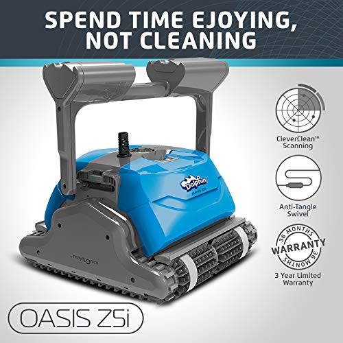 Dolphin Oasis Z5i Robotic Pool Cleaner with Powerful Dual Drive Motors and Bluetooth  Ideal for In-ground Swimming Pools up to 50 Feet