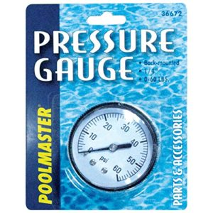 Poolmaster 36672  Pressure Gauge for Swimming Pool or Spa Filter  1 4 Back-Mount Thread